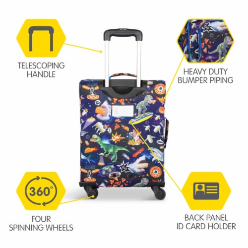 Bixbee Meme Space Odyssey Young Traveler Luggage Perspective: back