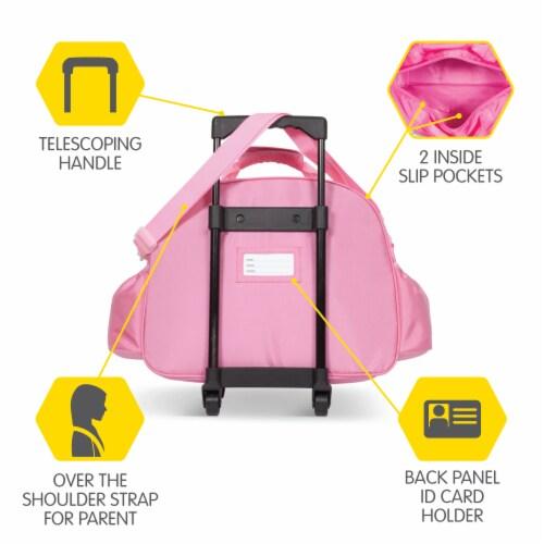 Bixbee Animal Pack Unicorn Little Traveler Luggage Perspective: back