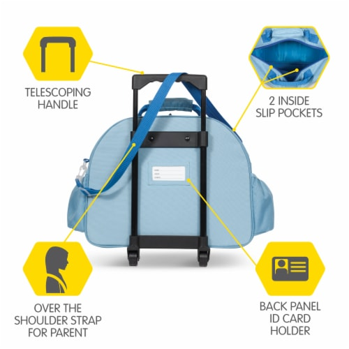 Bixbee Animal Pack Shark Little Traveler Luggage Perspective: back