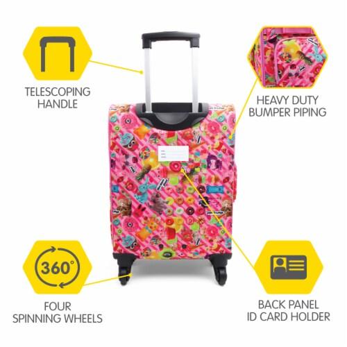 Bixbee Funtastical Young Traveler Luggage Perspective: back