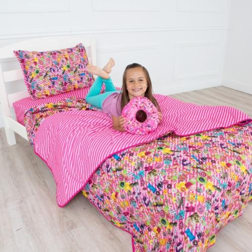 Bixbee Funtastical 5 Piece Bedding Set - Pink Perspective: back
