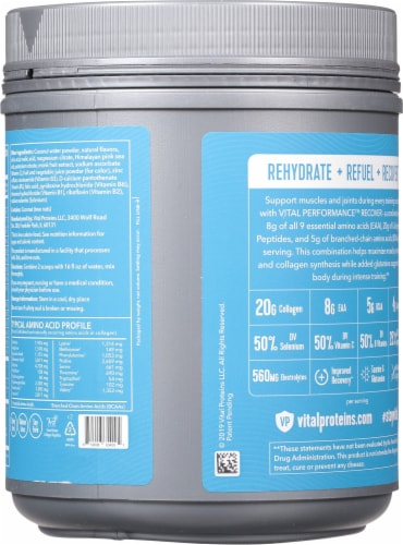 Vital Performance™ Yuzu Clementine Recover Powder Perspective: back