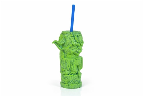 Geeki Tikis Star Wars Yoda Plastic Tumbler | Holds 17 Ounces Perspective: back