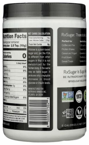 RxSugar Nutritious Sugar Perspective: back