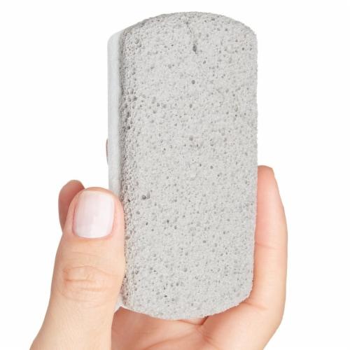 ZenToes Pedicure Pumice Stones Double Sided Fine/Coarse Callus Remover Blocks 2 Count (Gray) Perspective: back