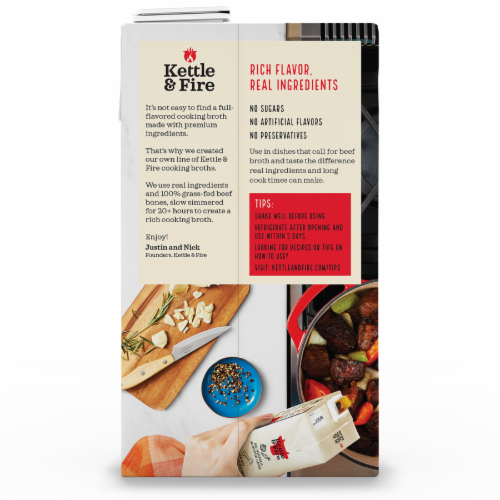 Kettle & Fire Traditional Beef Broth Perspective: back