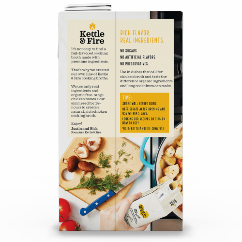 Kettle & Fire Traditional Chicken Broth Perspective: back