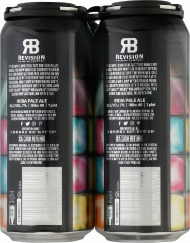 Revision Brewing Company Disco Ninja Northeast-Style Hazy IPA Perspective: back