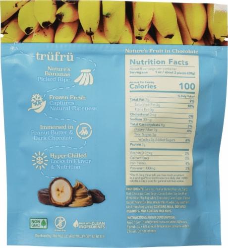 Tru Fru Nature's Bananas in Peanut Butter & Dark Chocolate Perspective: back