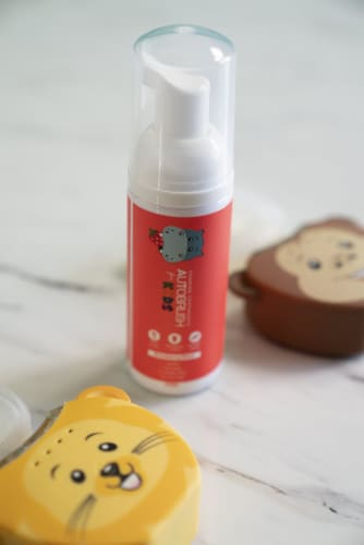 Autobrush for Kids Strawberry Foaming Toothpaste - 30 Day Supply (New 2020 Formula) Perspective: back