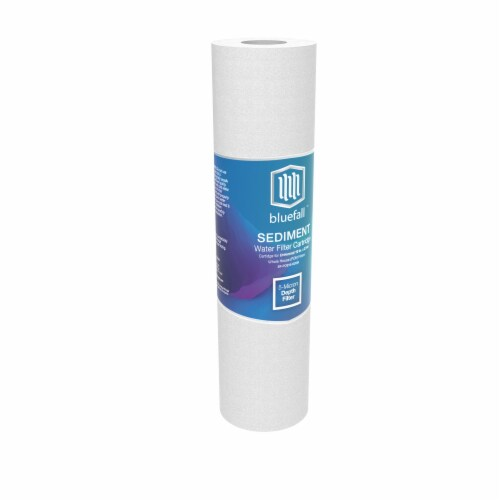 """5 Micron Wholehouse Sediment Water Filter  Replacement Cartridge 10"""" x 2.5""""  Value Pack (12) Perspective: back"""