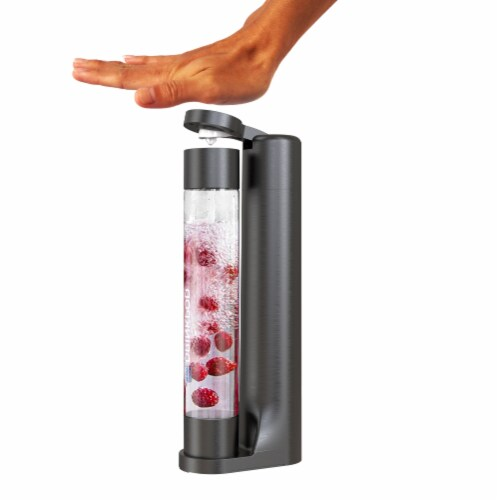 Fizzpod Home Soda Maker with 3 PET Bottles- Directly Carbonates Any Drink Perspective: back