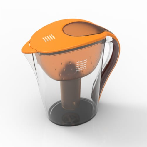 Drinkpod Ultra Premium Alkaline Water Pitcher 3.5L Capacity Includes 3 Filters Perspective: back