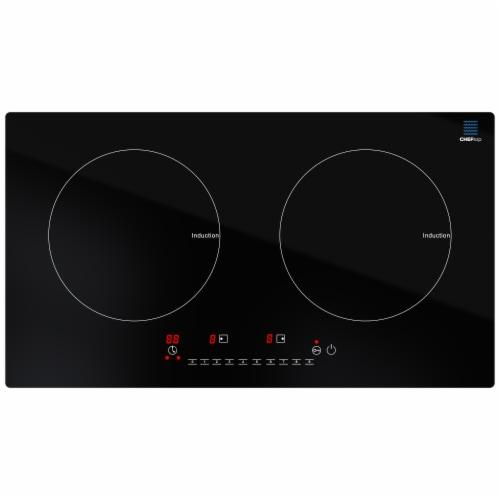 Cheftop Induction 2 Burner Cooktop - Portable 120V Digital Ceramic Top 2 Burner Electric Cook Perspective: back