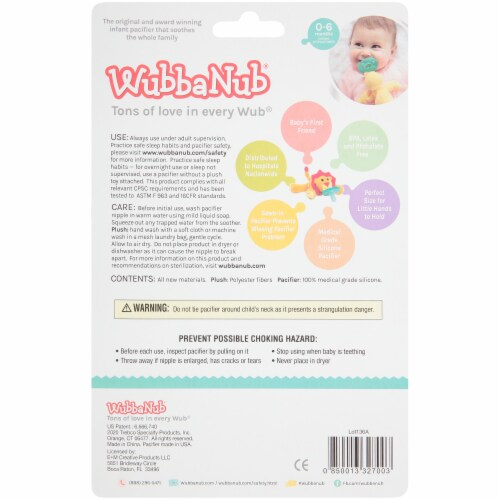 WubbaNub Puppy Infant Pacifier Perspective: back