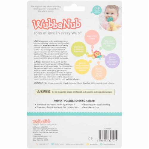 WubbaNub Giraffe Infant Pacifier Perspective: back