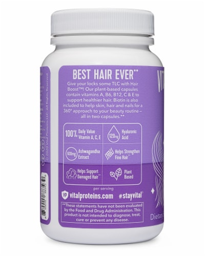 Vital Proteins Hair Boost Capsules Perspective: back