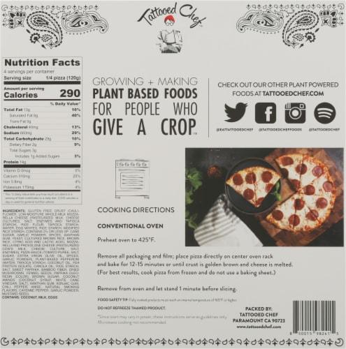 Tattooed Chef Cauliflower Crust Pepperoni Pizza Perspective: back