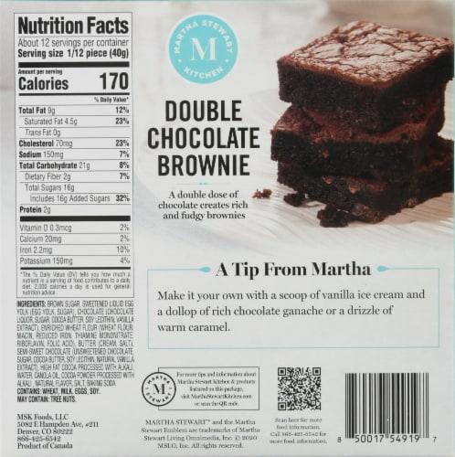 Martha Stewart Kitchen Double Chocolate Brownie Perspective: back