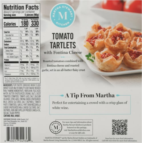 Martha Stewart Tomato Tartlets Perspective: back