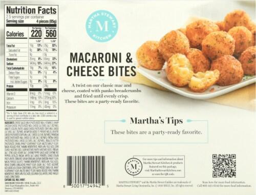 Martha Stewart Mac and Cheese Bites Perspective: back