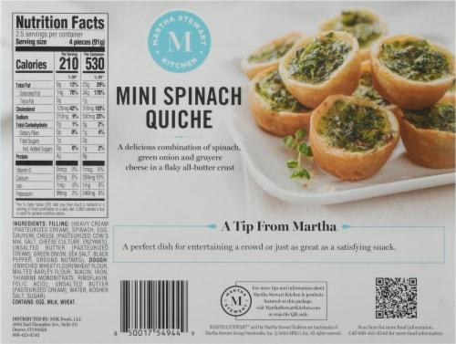 Martha Stewart Spinach Quiche Bites Perspective: back