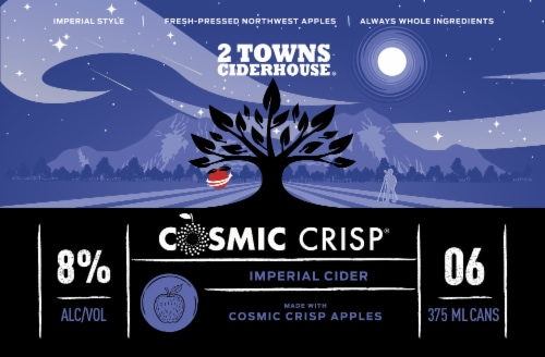 2 Towns Ciderhouse Cosmic Crisp® Imperial Cider Perspective: back