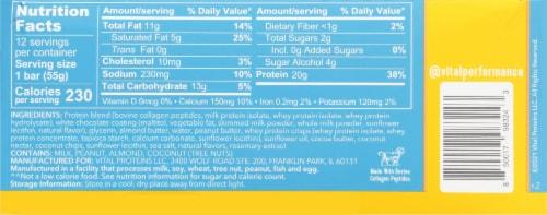 Vital Performance™ Vanilla Coconut Protein Bars Perspective: back