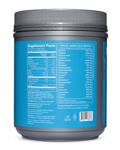 Vital Performance Cold Brew Coffee Protein Powder Perspective: back