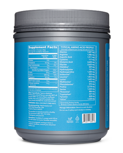 Vital Performance Strawberry Protein Powder Perspective: back
