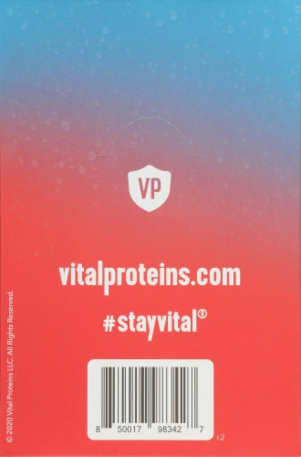 Vital Proteins Tropical Blast Hydration + Collagen Supplement Packets Perspective: back
