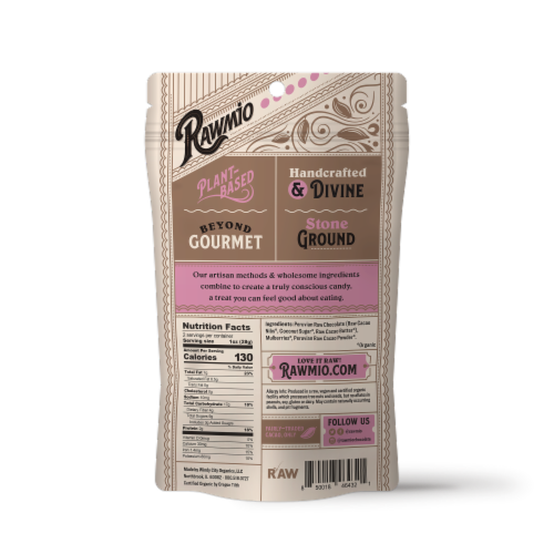 Rawmio Organic Chocolate Covered Mulberries Perspective: back