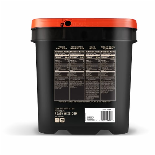 ReadyWise Oitdoor Meals Hunting Bucket Perspective: back