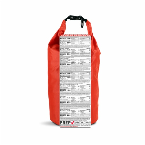 American Red Cross 7-Day Ready To Go Meal Kit Emergency Bag Perspective: back