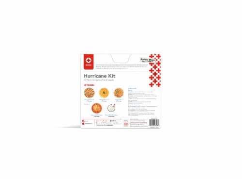 American Red Cross 72-Hour Emergency Food Supply Hurricane Kit Perspective: back
