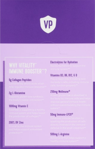 Vital Proteins Grape Citrus Vitality Immune Booster Packets Perspective: back
