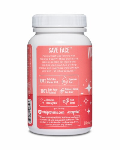 Vital Proteins Radiance Boost Capsules Perspective: back