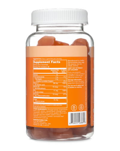 Vital Proteins Citrus Immune Support Gummies Perspective: back