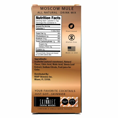 RSVP Skinnies Moscow Mule Cocktail Mixers (4 Pack) Perspective: back
