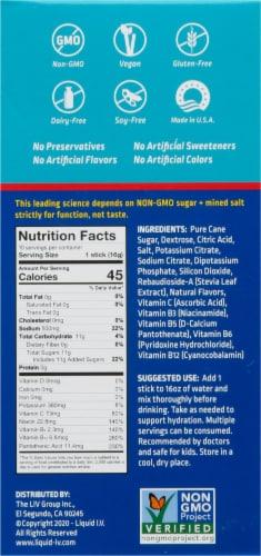 Liquid I.V. Hydration Multiplier Strawberry Electrolyte Drink Mix Sticks Perspective: back