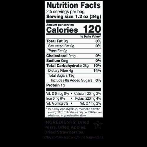 RIND Snacks Straw-Peary Dried Fruit Superfood - 3oz Bags, 3 Bags Total Perspective: back