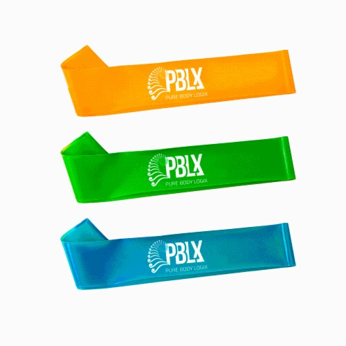 PBLX Mini Linx Resistance Bands Set with Workout Booklet Perspective: back