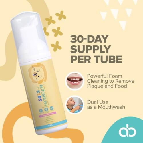 AutoBrush Foaming Kids Bubblegum Toothpaste - Fluoride-Free - New October 2020 Formula Perspective: back
