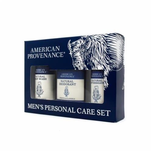 Natural Men's Gift Set; Aftershave - Firepits & Flannels Perspective: back