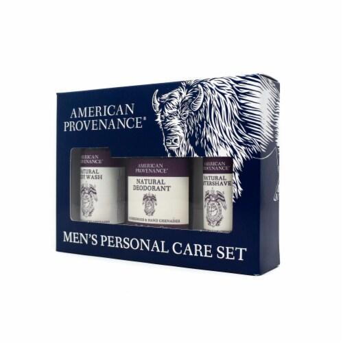 Natural Men's Gift Set; Aftershave - Horseshoes & Hand Grenades Perspective: back