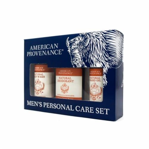 Natural Men's Gift Set; Beard Oil - Fastballs & Fisticuffs Perspective: back