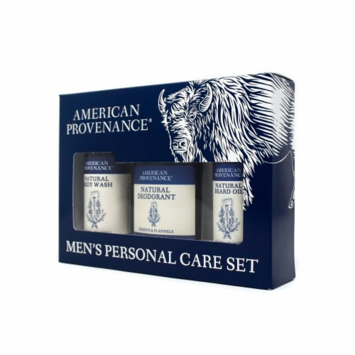 Natural Men's Gift Set; Beard Oil - Firepits & Flannels Perspective: back