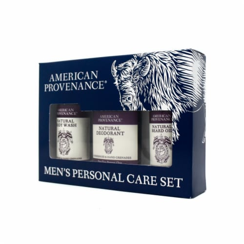 Natural Men's Gift Set; Beard Oil - Horseshoes & Hand Grenades Perspective: back