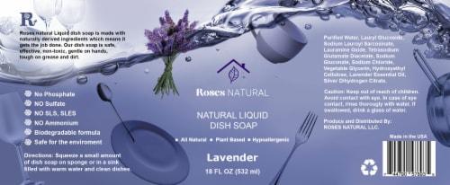Natural Dish Soap - Lavender Perspective: back