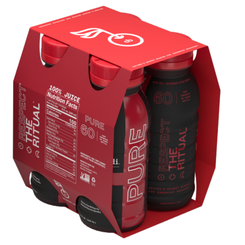 Cheribundi Pure Tart Cherry Juice Perspective: back